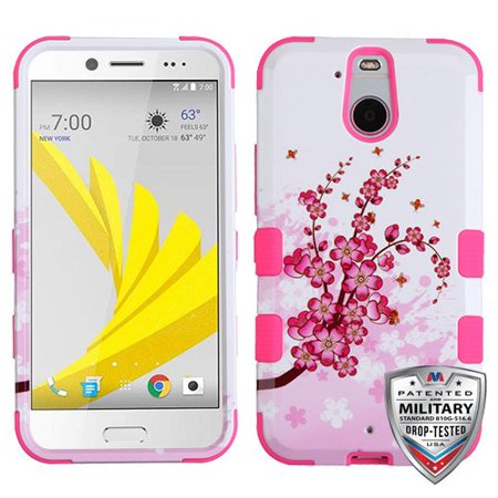 newest d2114 c0614 HTC Bolt Case - Wydan Tuff Hybrid Hard Shockproof Case Protective Cover  Cherry Blossom