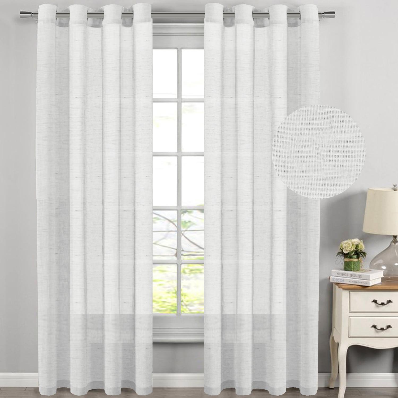 H.VERSAILTEX White Curtain Panels / Rich Natural Linen