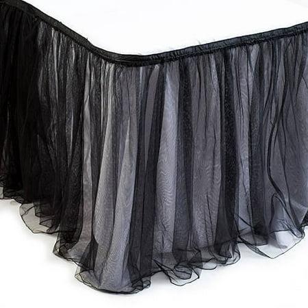 Black Tulle Table Skirt - Black Table Skirt
