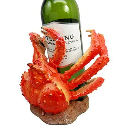 Atlantic Collectibles Giant Spider Anthropod Crab Wine Bottle Holder Caddy Figurine