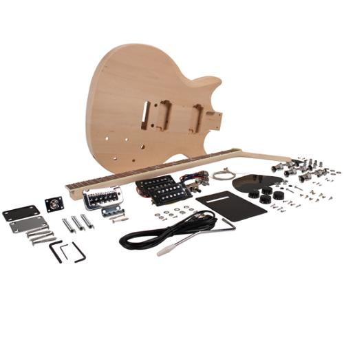 Seismic Audio Premium PRS Style DIY Electric Guitar Kit - Unfinished Luthier Project Kit - SADIYG-11