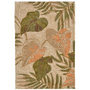 """Ravella Tropical Leaf Rug-Color:Off White/Neutral,Size:36""""Lx24""""Wx0.5""""H"""