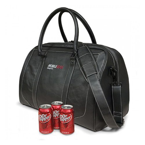 Mobile Edge Deluxe Leather Duffel Bag - Black