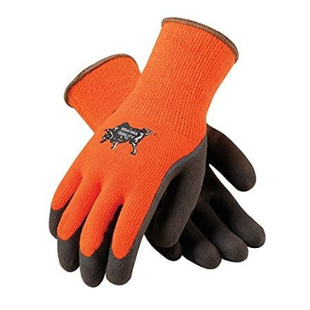 WA1403A Tek Seamless Knit Latex Grip Work Glove Large, Orange & Brown, Coated Brown Maxi 45 Nitrile EXTRA MicroFoam Large Premium Knit Orange Grip Gloves Piece LARGE.., By PIP Ship from US