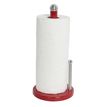 Home Basics Enamel Coated Steel Paper Towel Holder (Red) (Red Paper Towel Rack)