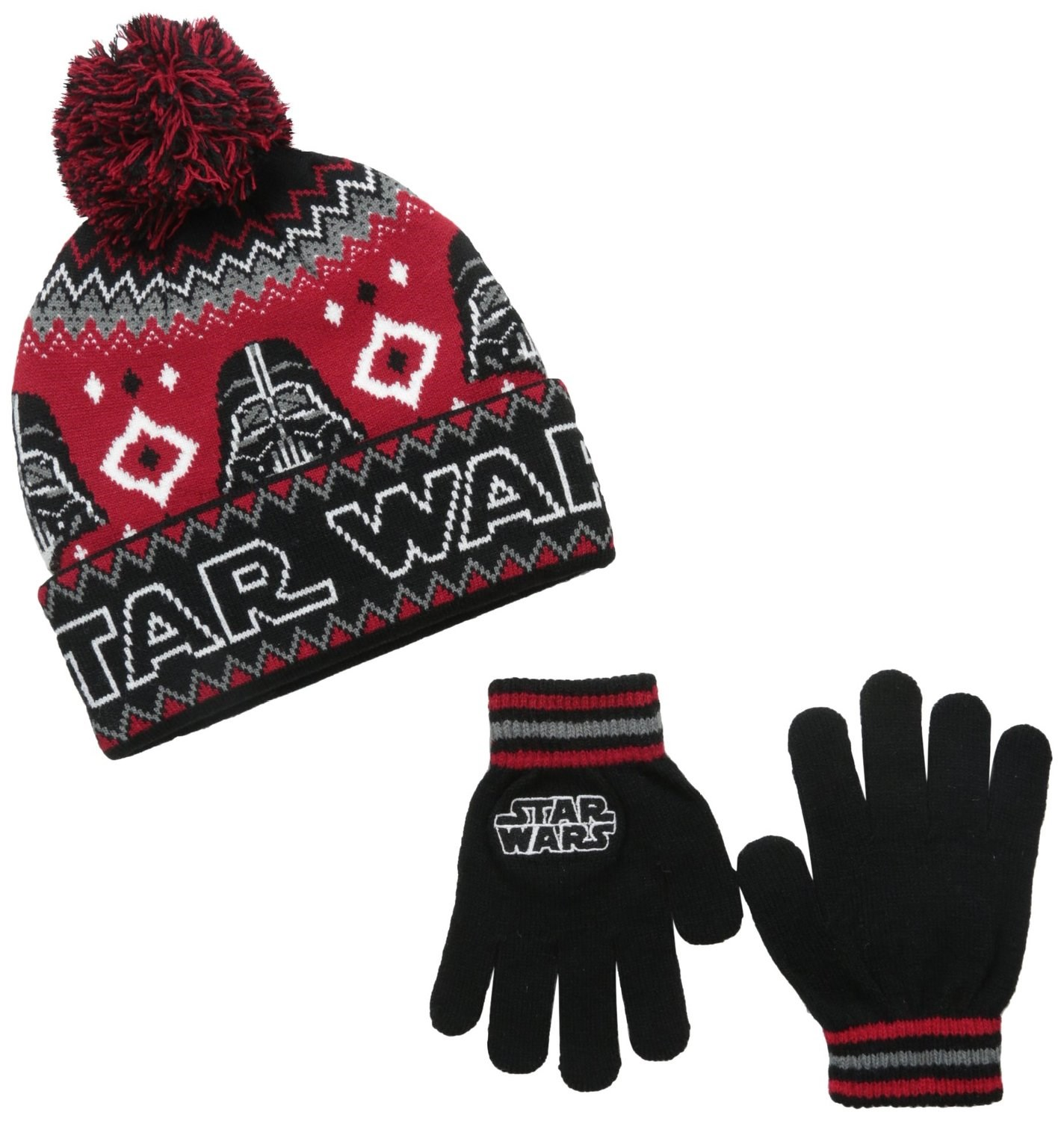 Star Wars Darth Vader Child Knit Hat & Gloves