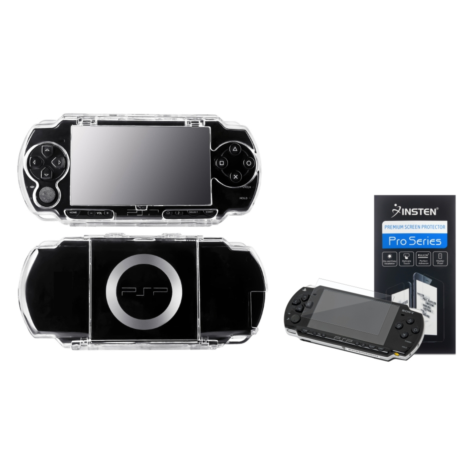Insten For PSP 1000 - Clear Crystal Hard Case Cover + Screen Protector
