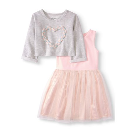 2-in-1 Popover Dress, 2-Piece Set (Toddler Girls) - Colonial Dress For Girls