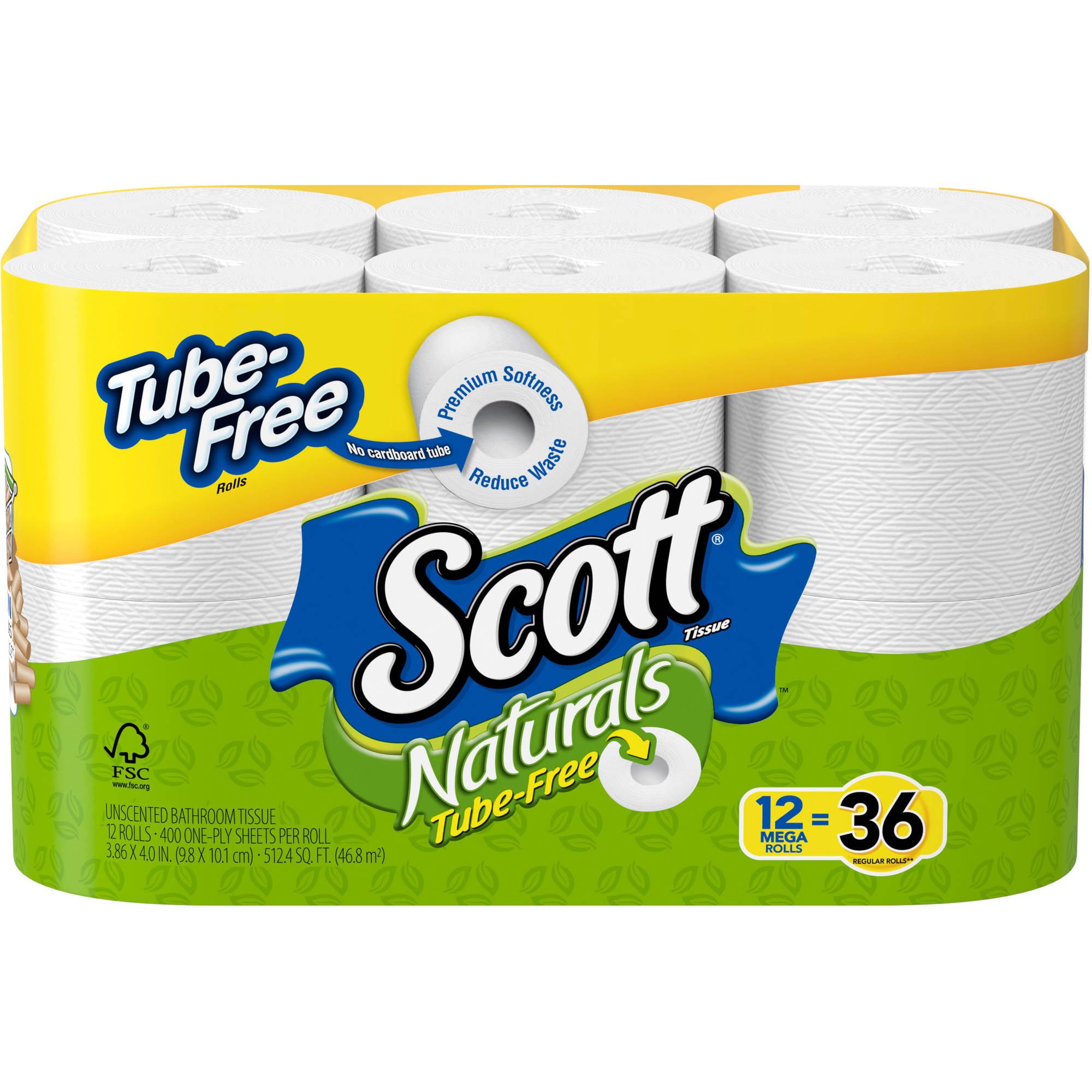 Bathroom Tissue scott naturals tube-free bathroom tissue mega rolls, 400 sheets