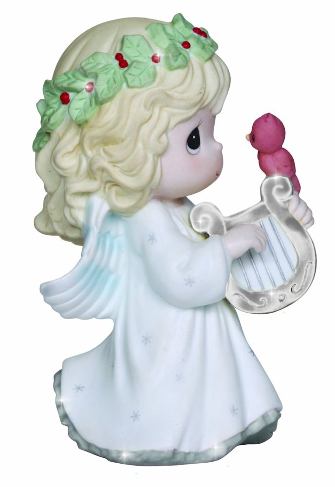 Precious Moments Christmas 131026 Let Heaven and Nature Sing Annual Angel with Harp Figurine by Precious Moments
