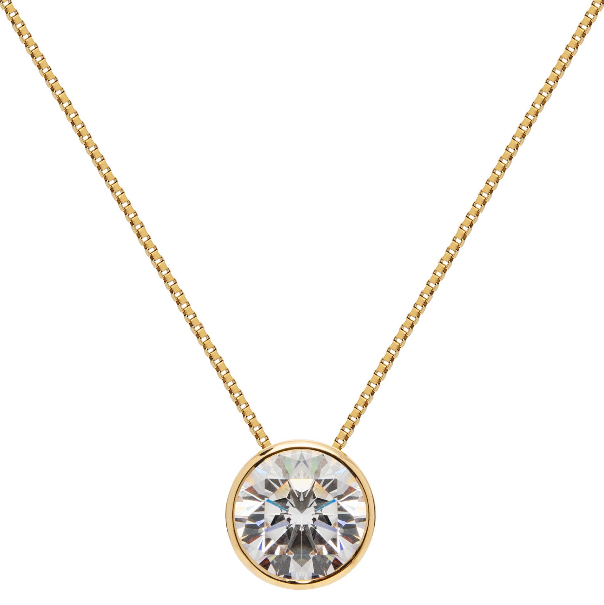 Frozen Bezel Necklace 45