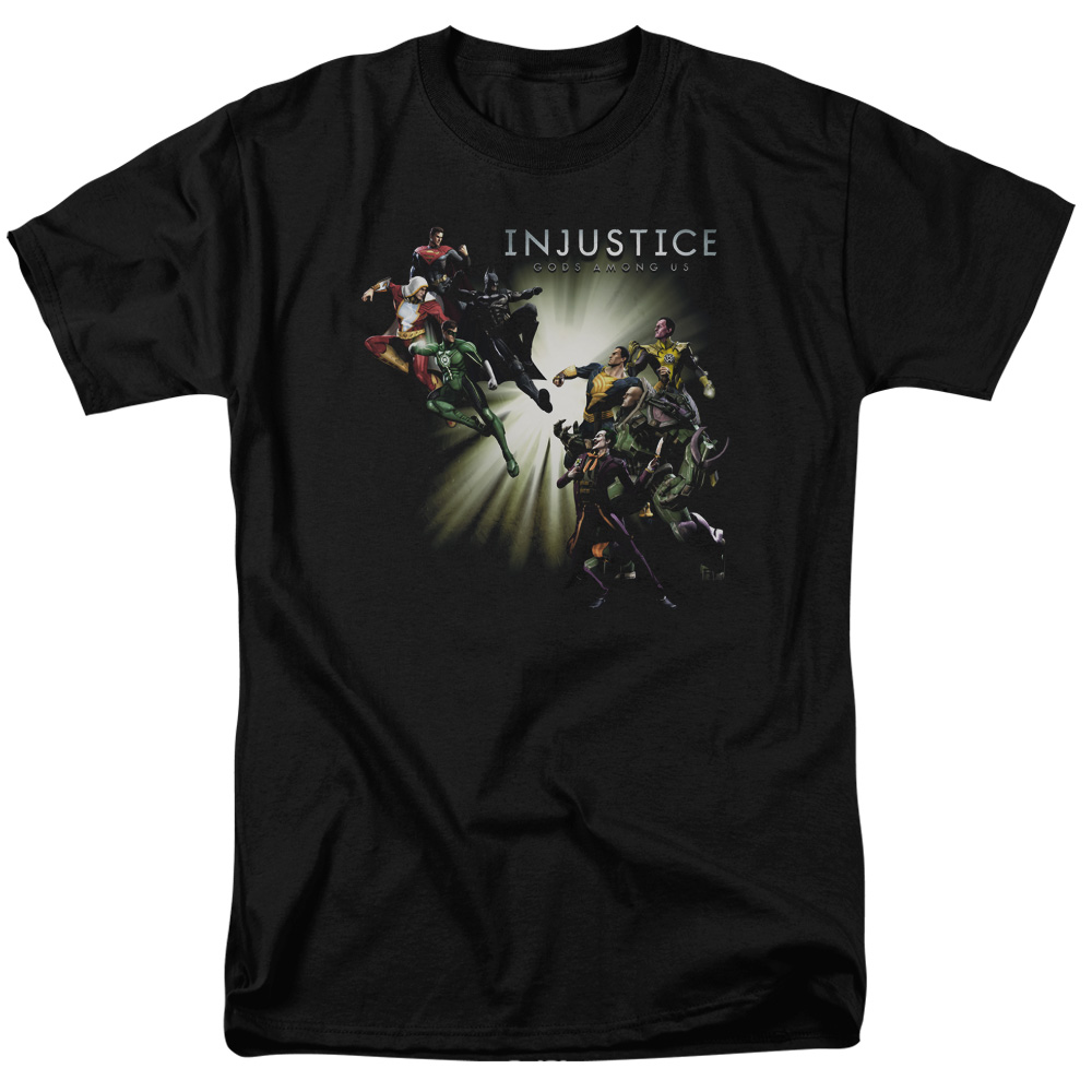 Injustice Gods Among Us Good Vs Evils Mens Short Sleeve Shirt