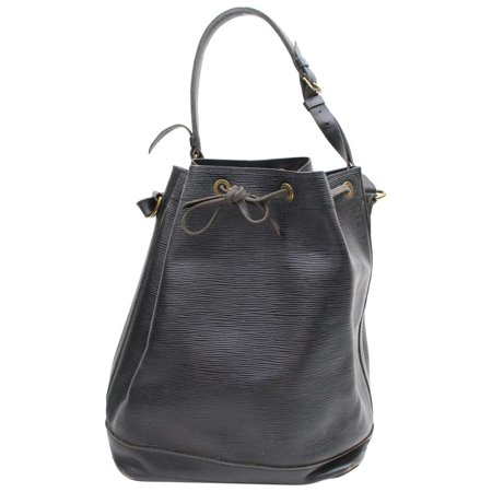 Louis Vuitton Black Epi Noir Noe Drawstring Bucket Hobo 869630