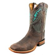 Tony Lama San Saba Shiloh Men 2E Square Toe Leather Brown Western Boot