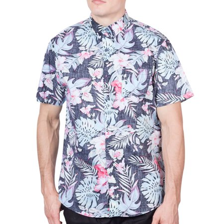 ea7ee39492e893 Visive - Hawaiian Shirt For Mens | Short Sleeve Button Up Down Tropical Aloha  Shirts Floral-2XL - Walmart.com