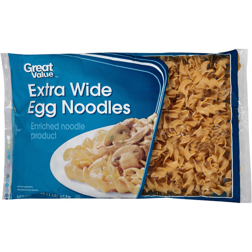 Great Value: Extra Wide Egg Noodles, 16 Oz