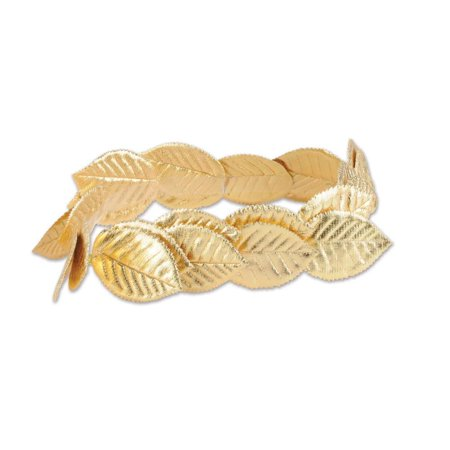 Beistle Roman Laurel Wreath Tiara, Gold, One-Size - Roman Laurel