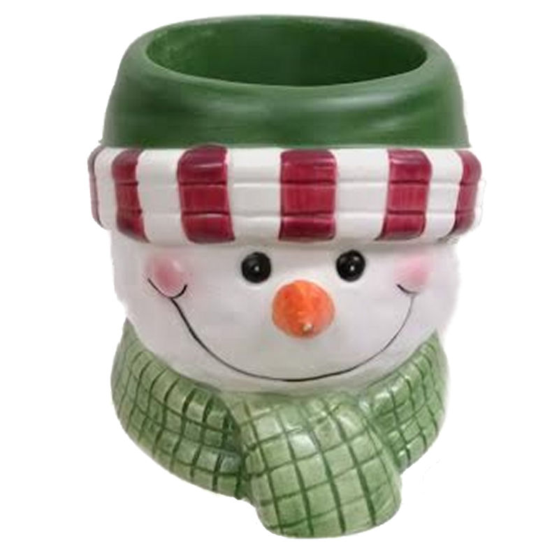 Jackel Snow Family 23877 Snowman with Green Cap Votive Holder