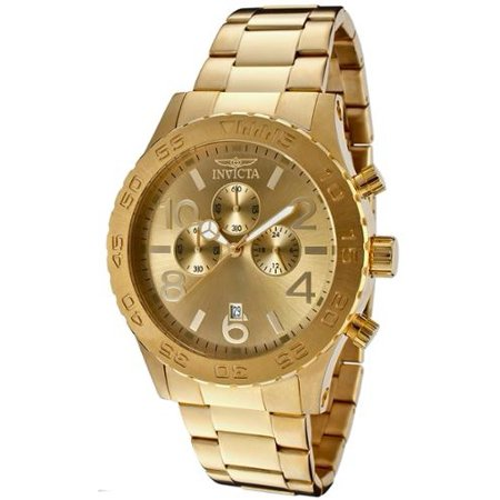 Men's 1270 Specialty Chronograph Gold Dial 18k Gold Ion-Plated Stainl