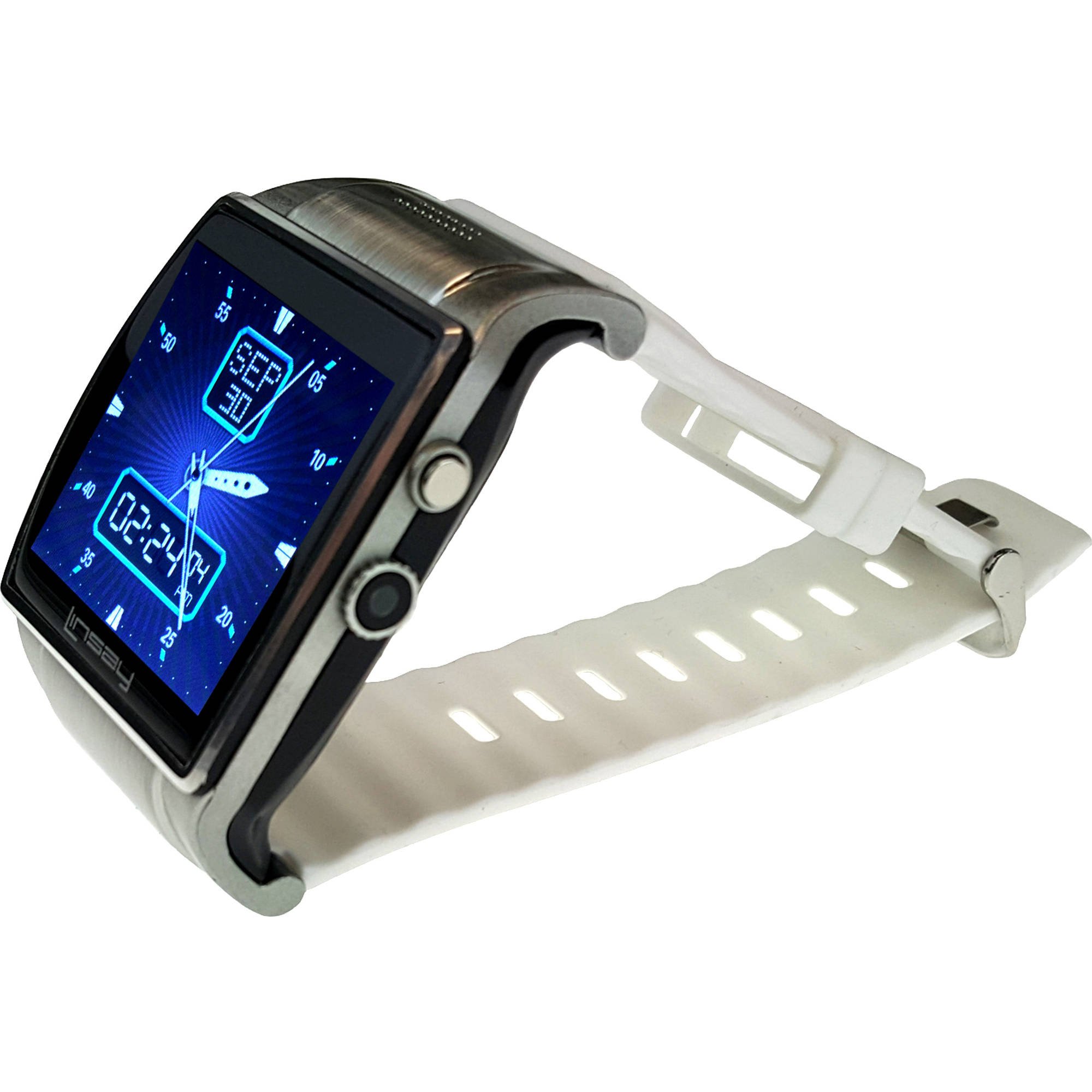 1.5 Executive Smart Watch with Camera and microSD Card Slot up to 64GB, White