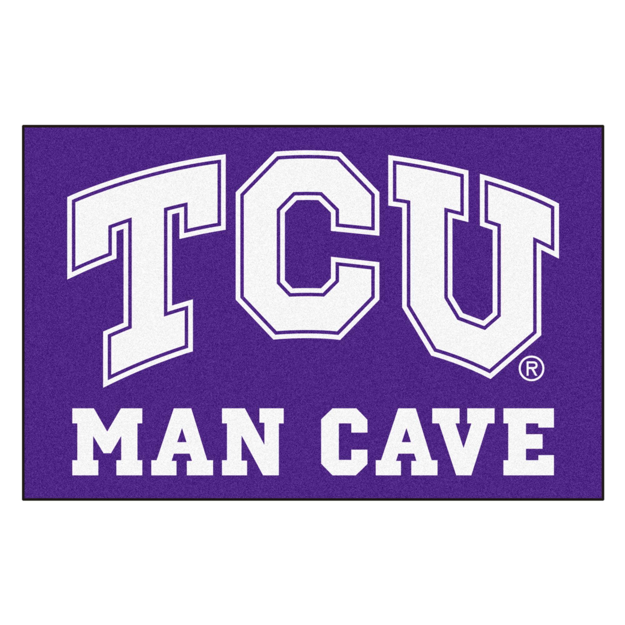 "TCU Man Cave Starter Rug 19""x30"""