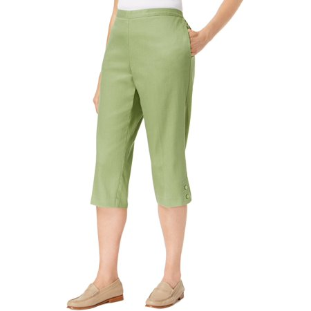 Alfred Dunner Womens Parrot Cay Classic Fit Pull-On Capri Pants (Classic Fit Capris)
