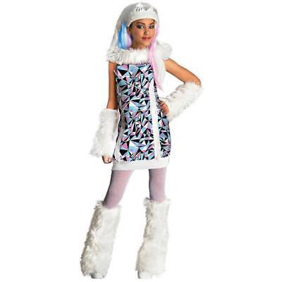 IN-13637558 Monster High Abbey Bominable Girls Halloween Costume LARGE](Abbey Bominable Makeup)