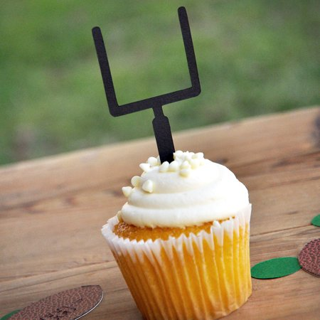 Football Birthday Party.  Ships in 1-3 Business Days.  Sports Party Decor.  Cupcake Toppers.  Football Goalpost Picks.  Sets of 12. (Football Cup Cake Topper)