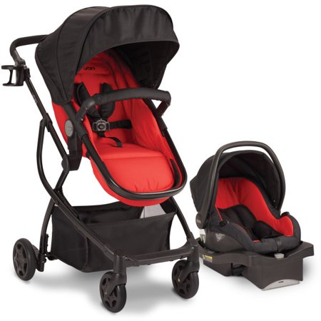 Urbini Omni Plus 3 in 1 Travel System, Classic Red Now $99.99 (Was $199)