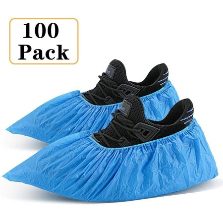 100pcs Disposable Shoe Covers -50 Pairs CPE Disposable Shoe & Boot Covers Waterproof Slip Resistant Shoe Booties - image 9 of 9