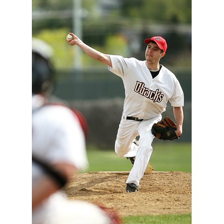 (Peel-n-Stick Poster of Throw Pitcher Pitch Baseball Pitcher's Mound Poster 24x16 Adhesive Sticker Poster Print)