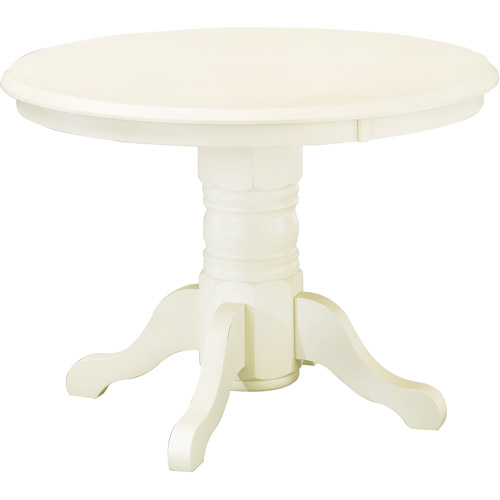 Home Styles Round Pedestal Dining Table, Antique White
