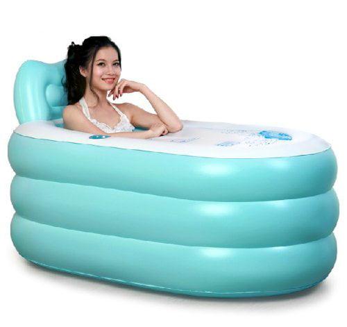 Fashion Adult Inflatable Bathtub with Electric Air Pump (blue bathtub) by