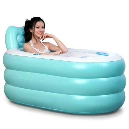 Fashion Adult Inflatable Bath Tub with Electric Air Pump (blue bathtub, large)](Inflatable Bath Adult)