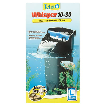 tetra whisper 10-30 gallon internal power filter for aquariums ...