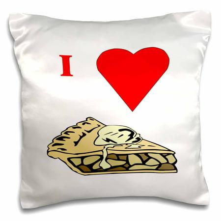 3dRose Love Apple Pie - Pillow Case, 16 by 16-inch ()