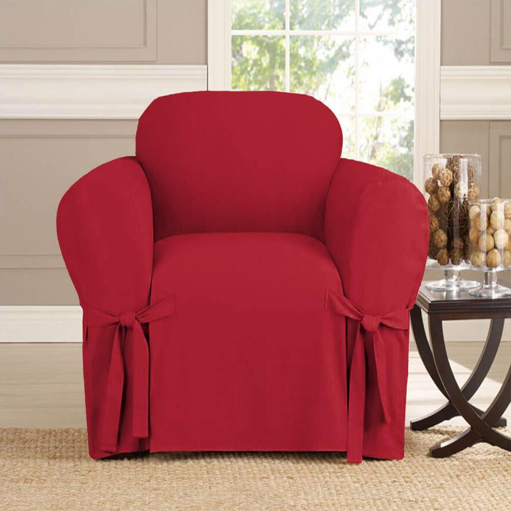 Microsuede Furniture Slipcover Chair 70 x 90- Ruby