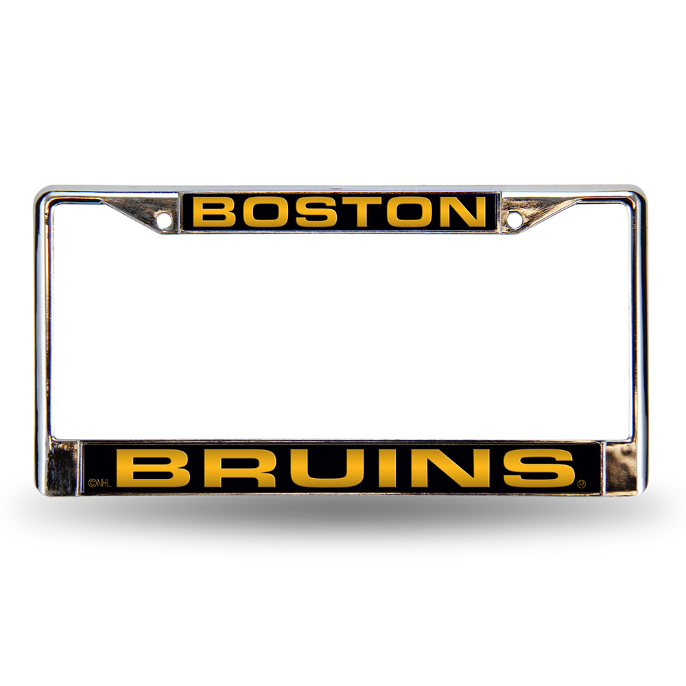 Boston Bruins Laser Etched Chrome License Plate Frame