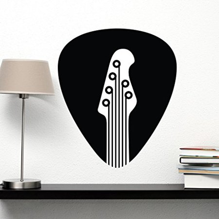 Guitar Pick Wall Decal - Wall Sticker, Vinyl Wall Art, Home Decor, Wall Mural - SA3043-16in x 18in-Beige