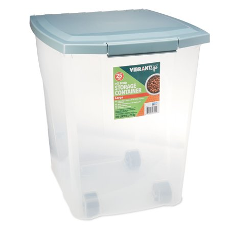Vibrant Life Pet Food Storage Container, Large, 25