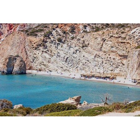 Canvas Print Milos Greece Cyclades Stretched Canvas 10 x (Milo Paper)