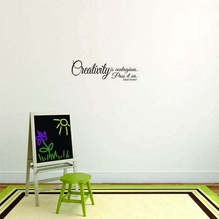 Wall Design Pieces Creativity Is Contagious Pass It On Albert Einstein Quote Kids Teen Boy Girl Quote 8x20
