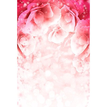 EREHome Polyester Fabric 5x7ft Photography Backdrops Powdery Red Flowers Wall Valentine's day Lover Photo Backgrounds Studio Props - image 4 of 4