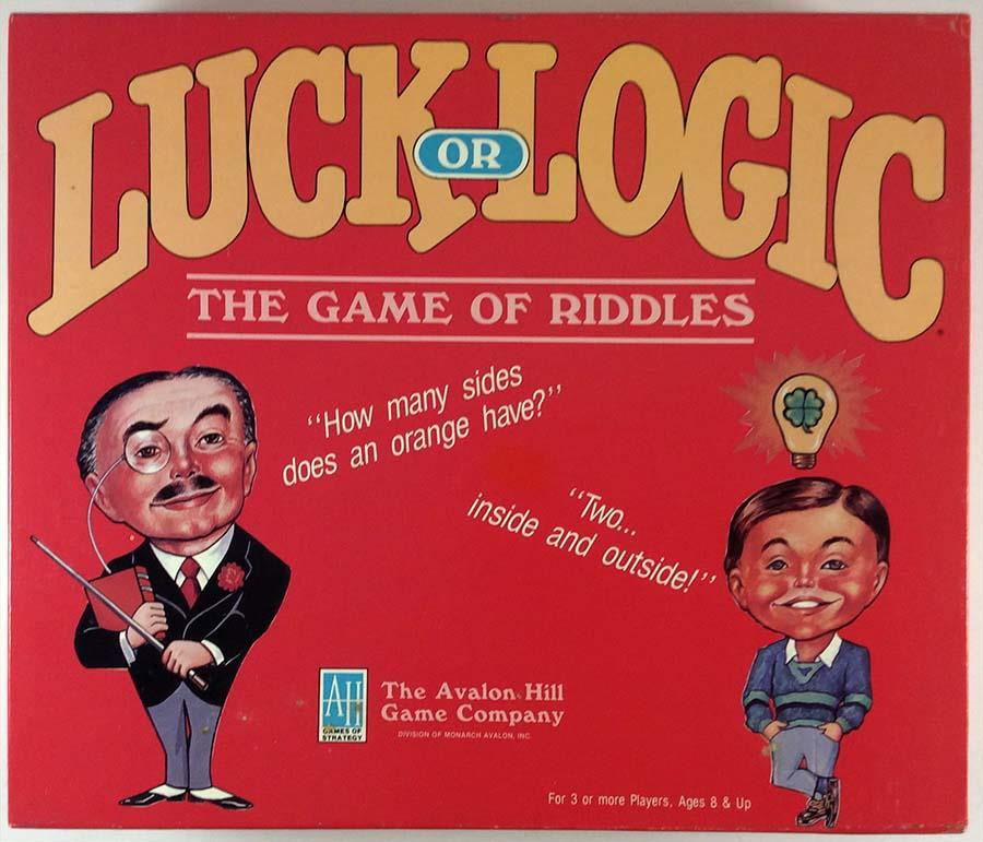 Luck or Logic The Game of Riddles Lightly Used by Avalon Hill