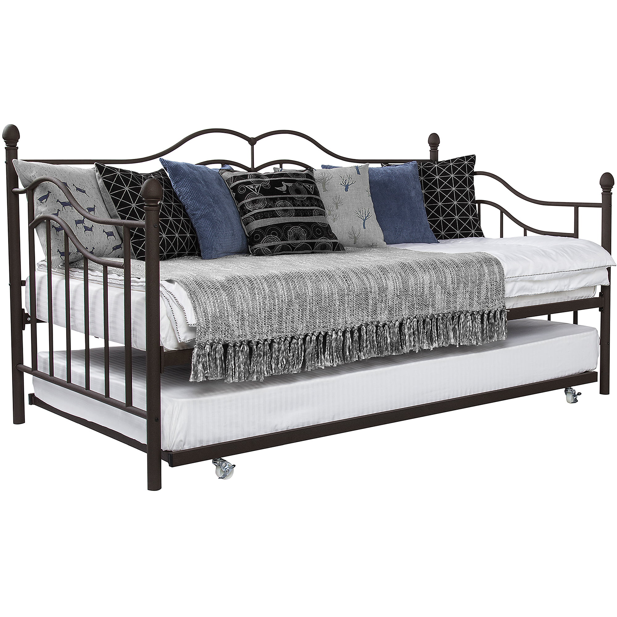 Adult daybed twin bed frame with trundle daybeds for for Beds with trundle