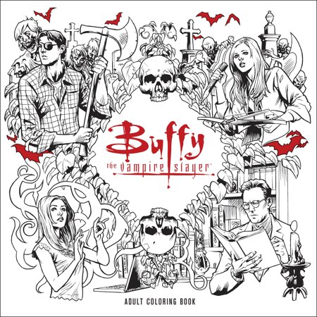 Buffy the Vampire Slayer Adult Coloring Book - Vampire Slayer Halloween