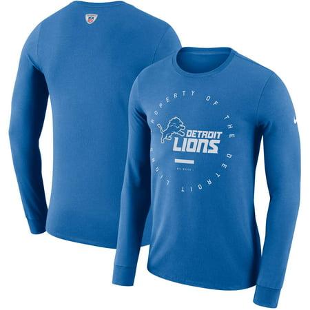 Detroit Lions Nike Property Of Sideline Performance Long Sleeve T-Shirt -