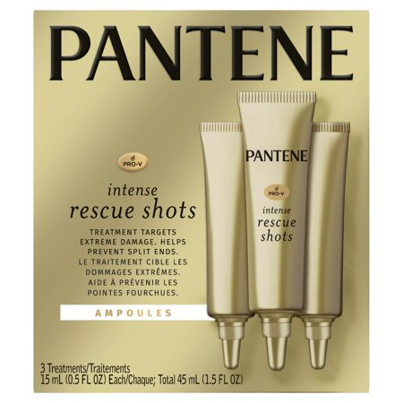 Pantene Pro-V Intense Rescue Shots Hair Ampoules for Intensive Repair of Damaged Hair, 0.5 fl oz (Pack of (Best Heat Treatment For Hair)