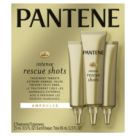 Pantene Pro-V Intense Rescue Shots Hair Ampoules for Intensive Repair of Damaged Hair, 0.5 fl oz (Pack of