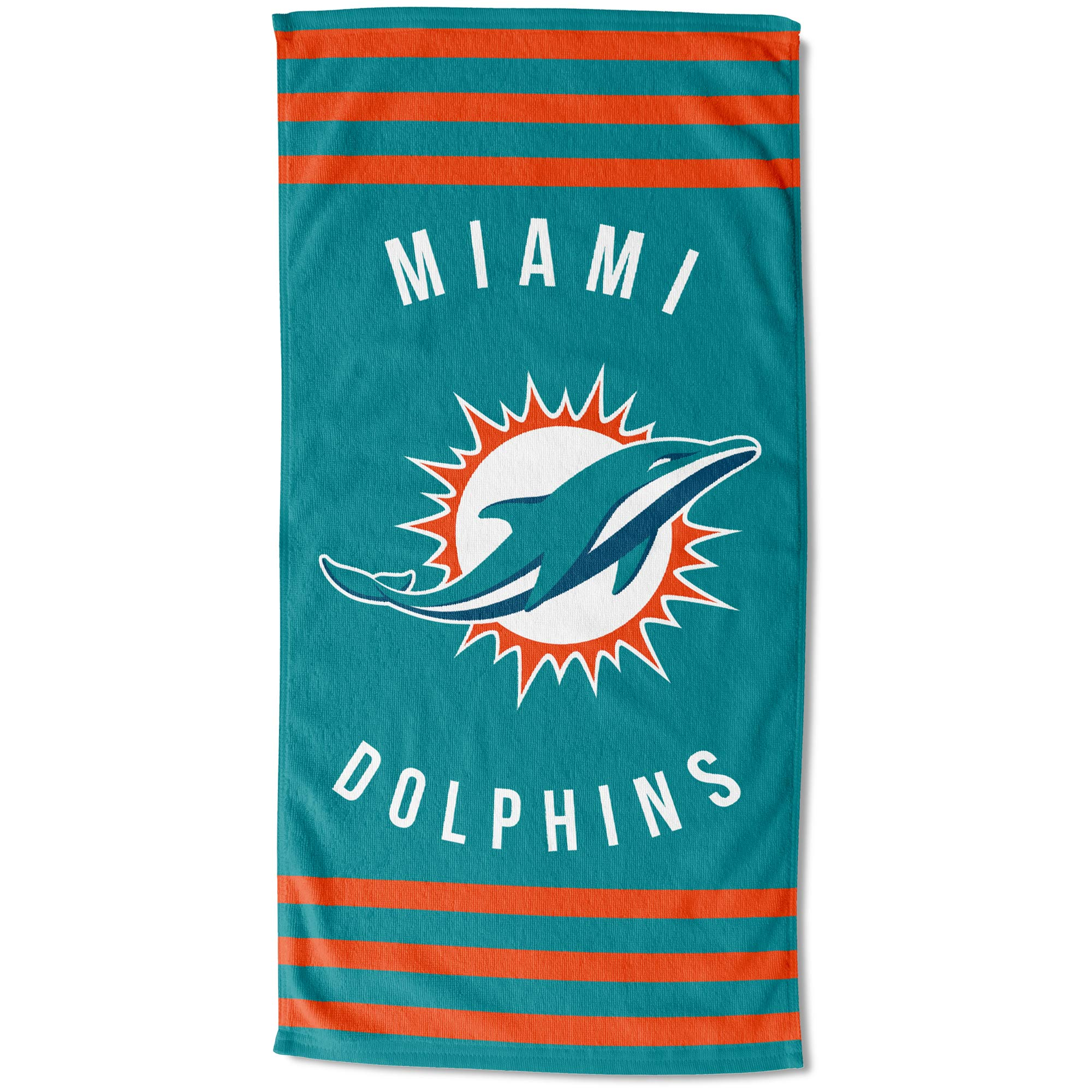 "Miami Dolphins The Northwest Company 30"" x 60"" Striped Beach Towel - No Size"
